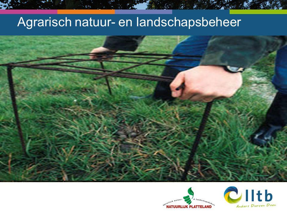 4 e TBO aanpak Doelstelling 4 e TBO: Collectief natuurbeheer door agrariërs mogelijk maken in gebieden waar natuurbeheer door agrariërs anders niet mogelijk is.