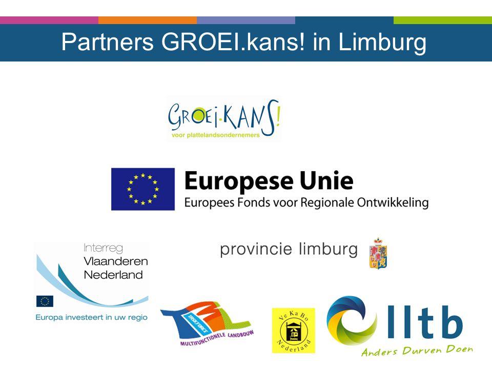 Partners GROEI.kans! in Limburg