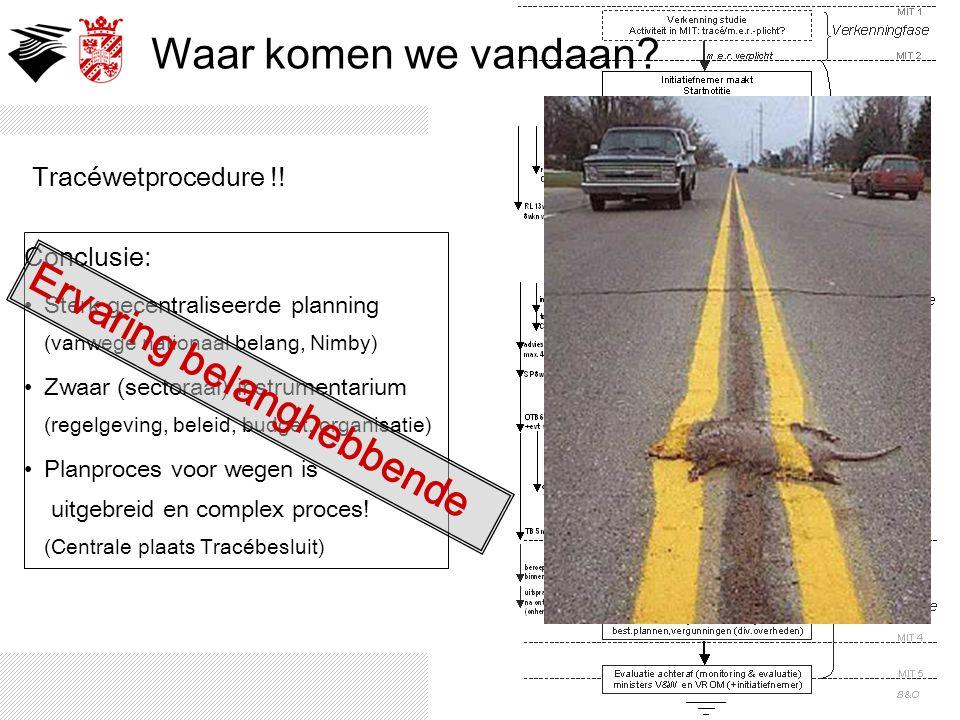 Waar komen we vandaan? Ontwikkeling aangelegde (snel)wegen…