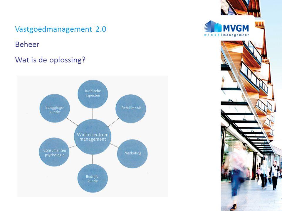 Vastgoedmanagement 2.0 Beheer Wat is de oplossing?