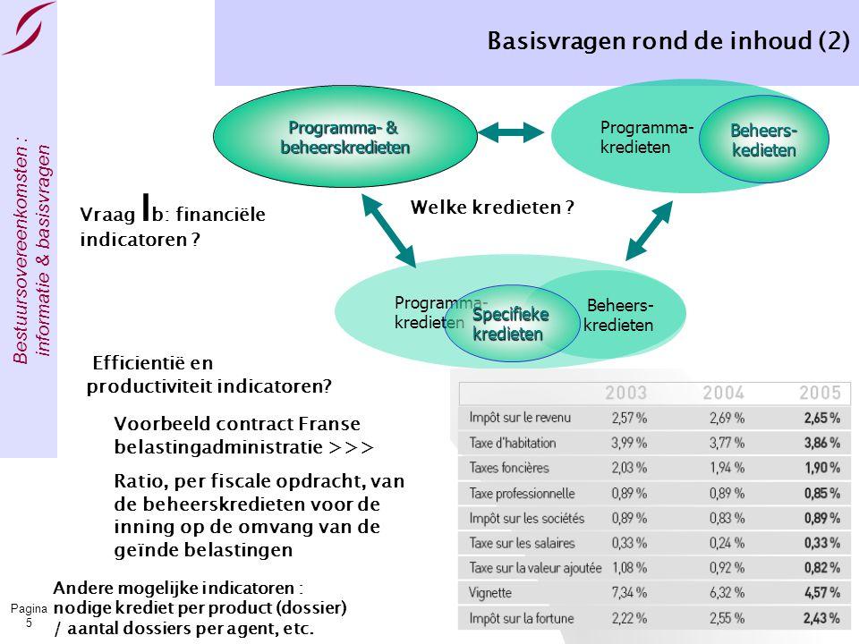 Bestuursovereenkomsten : informatie & basisvragen Pagina 16 Het organiseren van het contractprocess Directie-generaal Beleidsondersteuning 3 Basisvragen Situatie bij de BO van de sociale zekerheid