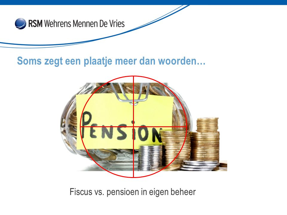 Soms zegt een plaatje meer dan woorden… Fiscus vs. pensioen in eigen beheer