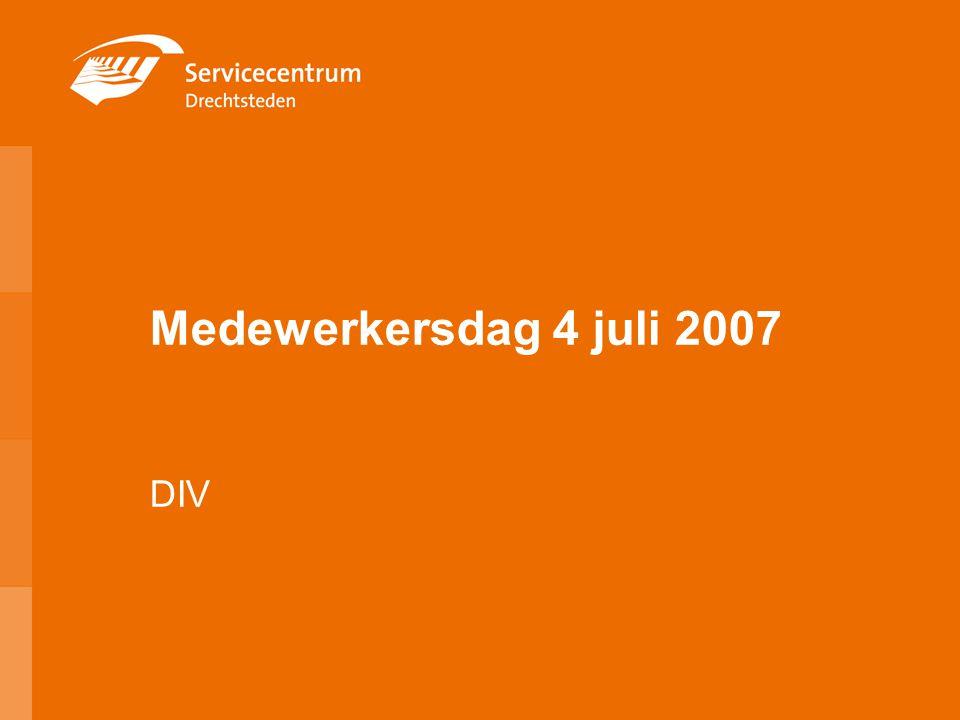 Medewerkersdag 4 juli 2007 DIV