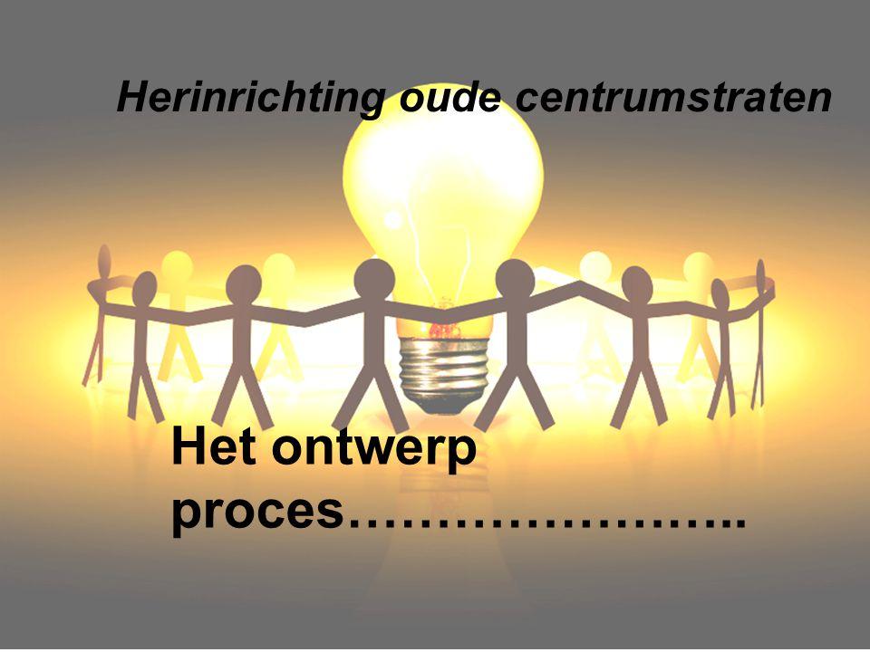 Herinrichting oude centrumstraten Het ontwerp proces…………………..