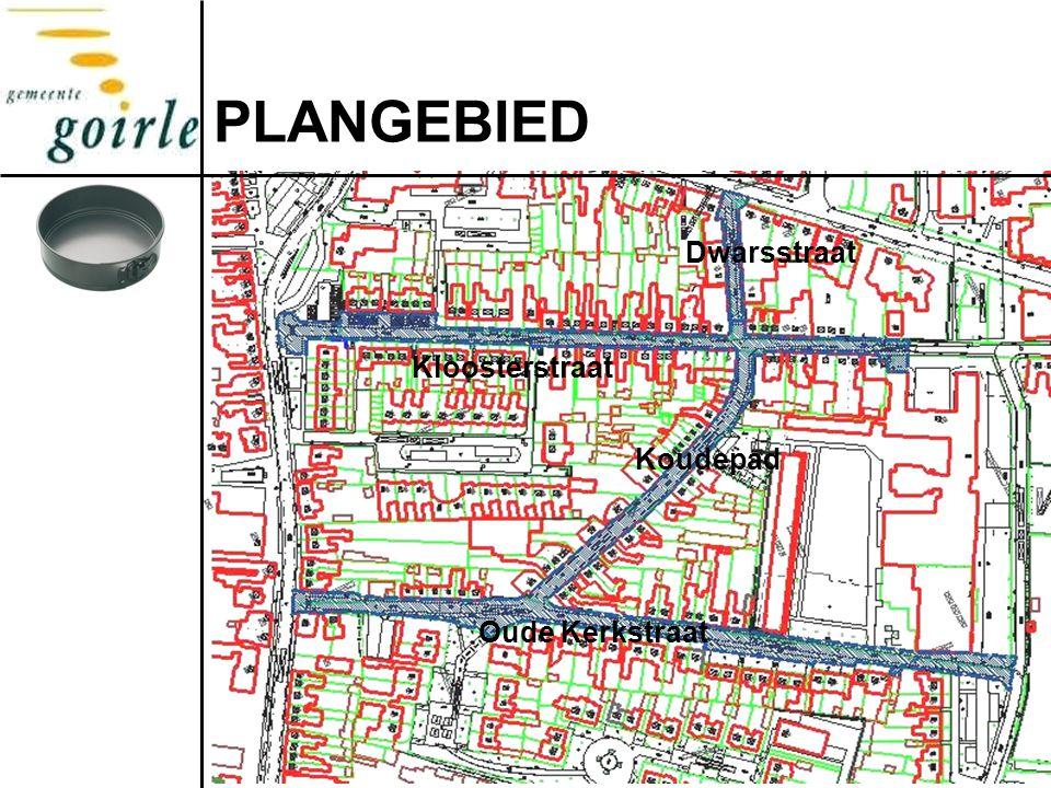 PLANGEBIED Kloosterstraat Koudepad Oude Kerkstraat Dwarsstraat
