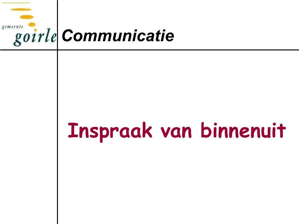 Inspraak van binnenuit Communicatie