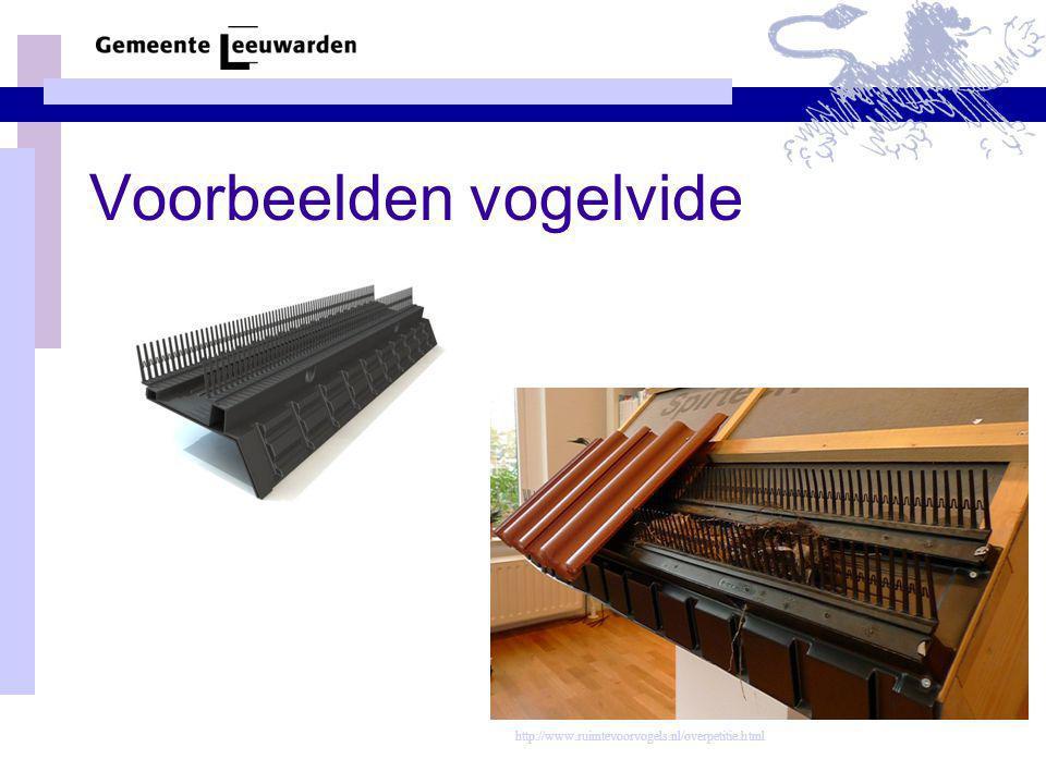 Voorbeelden vogelvide http://www.ruimtevoorvogels.nl/overpetitie.html