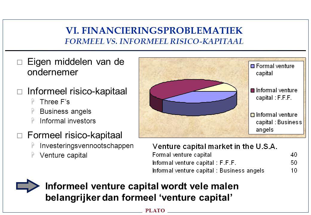PLATO VI.FINANCIERINGSPROBLEMATIEK FORMEEL VS.