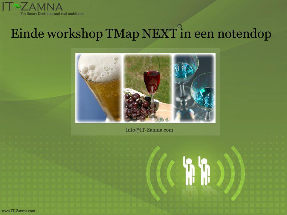Einde workshop TMap NEXT in een notendop ®