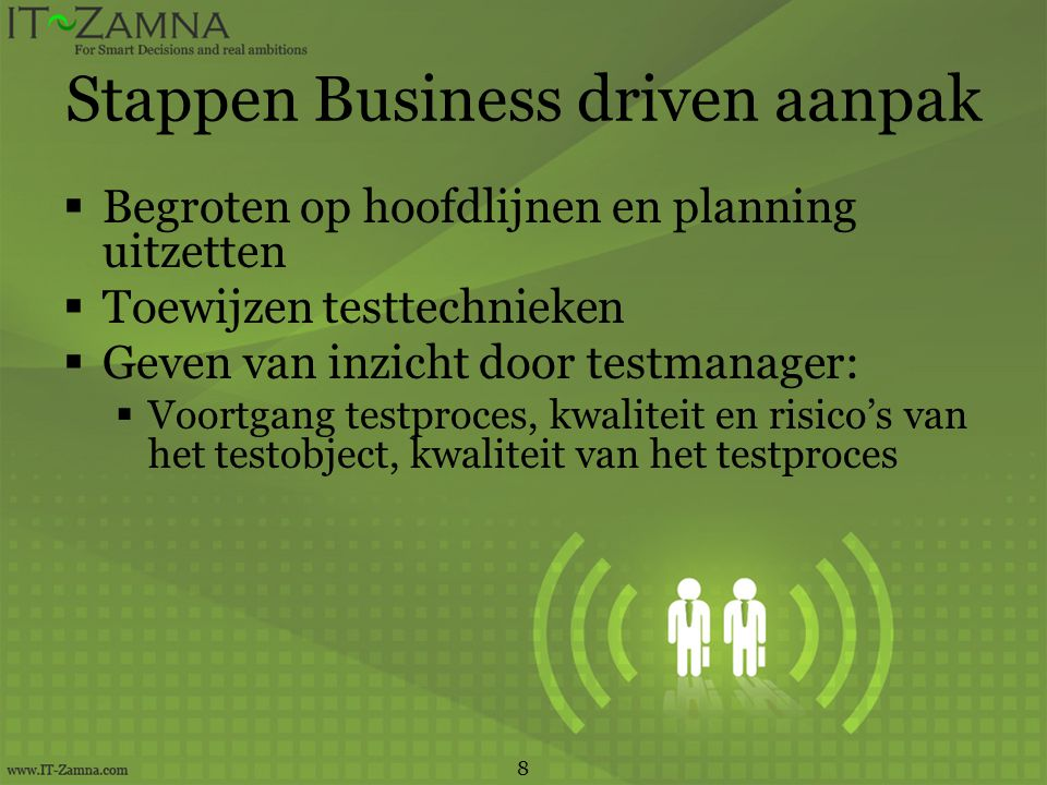 Einde workshop TMap NEXT in een notendop ®