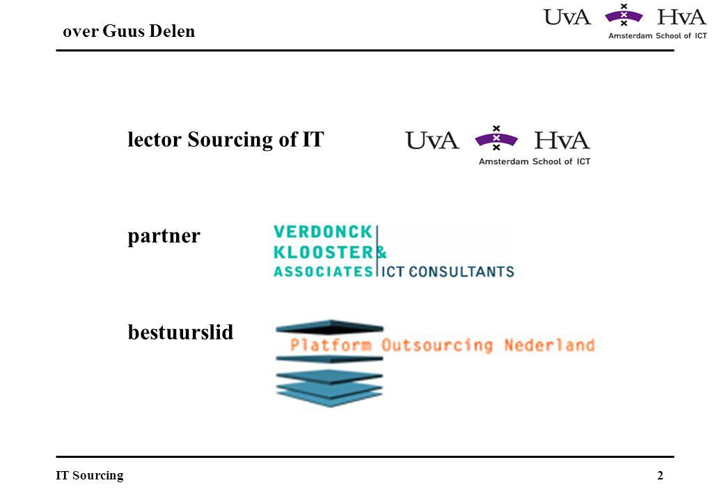 3IT Sourcing Agenda Achtergrond Succesfactoren en cases Offshore sourcing