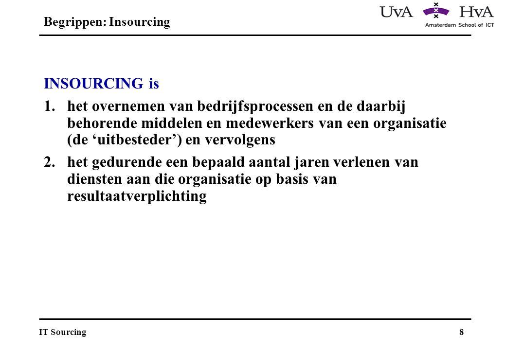 9IT Sourcing Uitbesteder Leverancier B Leverancier A Outsourcing Insourcing Backsourcing Follow-up sourcing Dienstverlening Out-, in-, follow-up & back-sourcing