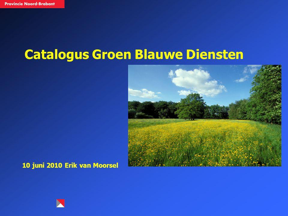 Catalogus Groen Blauwe Diensten 10 juni 2010 Erik van Moorsel