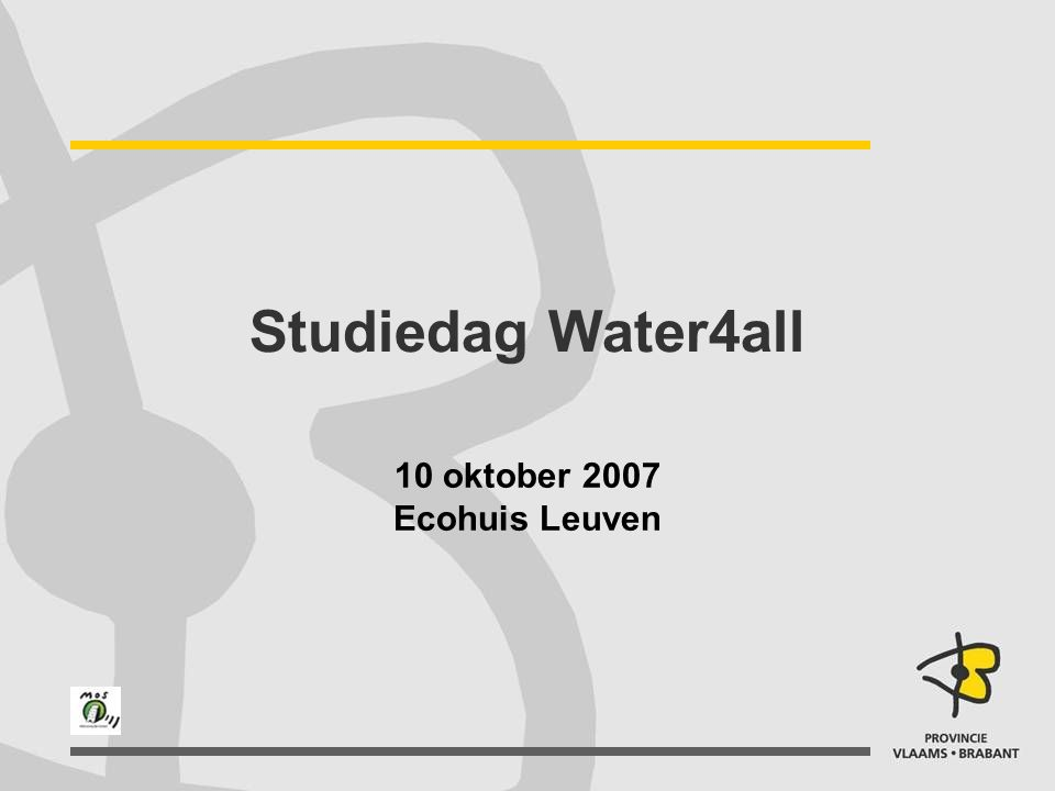 Programma voormiddag Welkom Integraal waterbeheer Kansen voor onderwijs Ecopolismodel Water4all