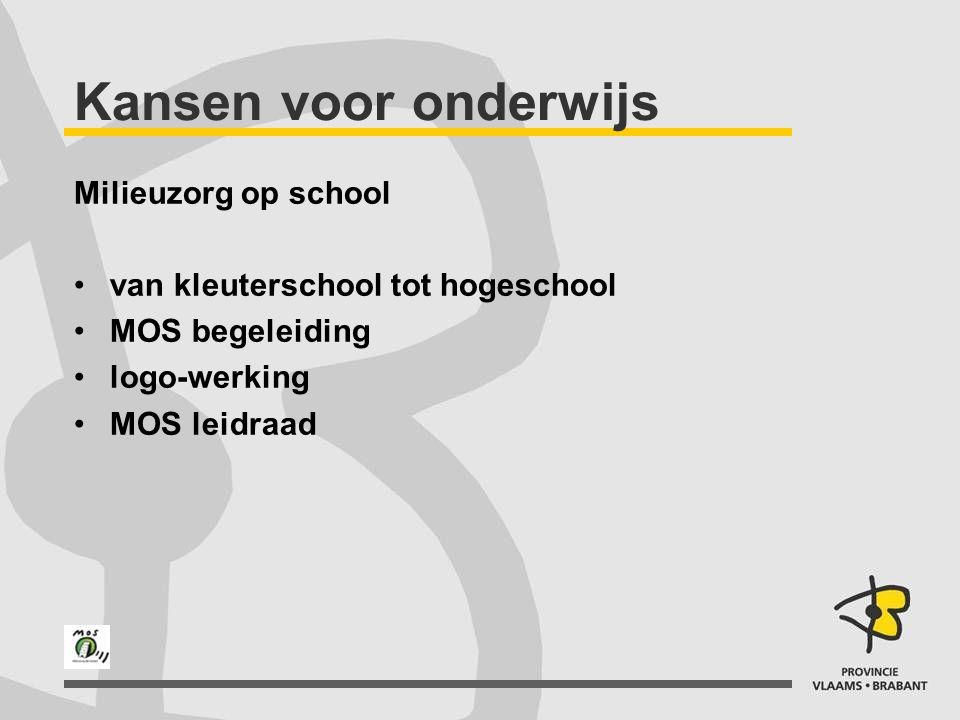 Milieuzorg op school van kleuterschool tot hogeschool MOS begeleiding logo-werking MOS leidraad