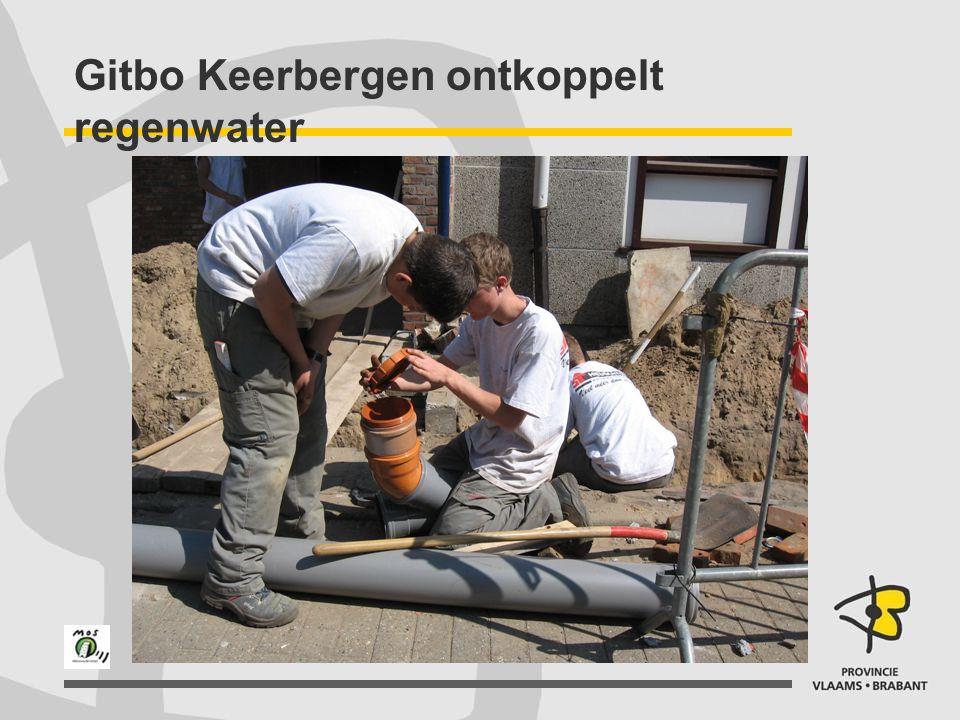 Gitbo Keerbergen ontkoppelt regenwater
