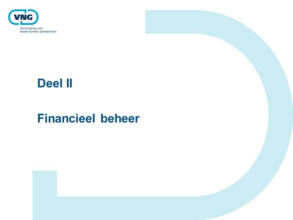 Deel II Financieel beheer