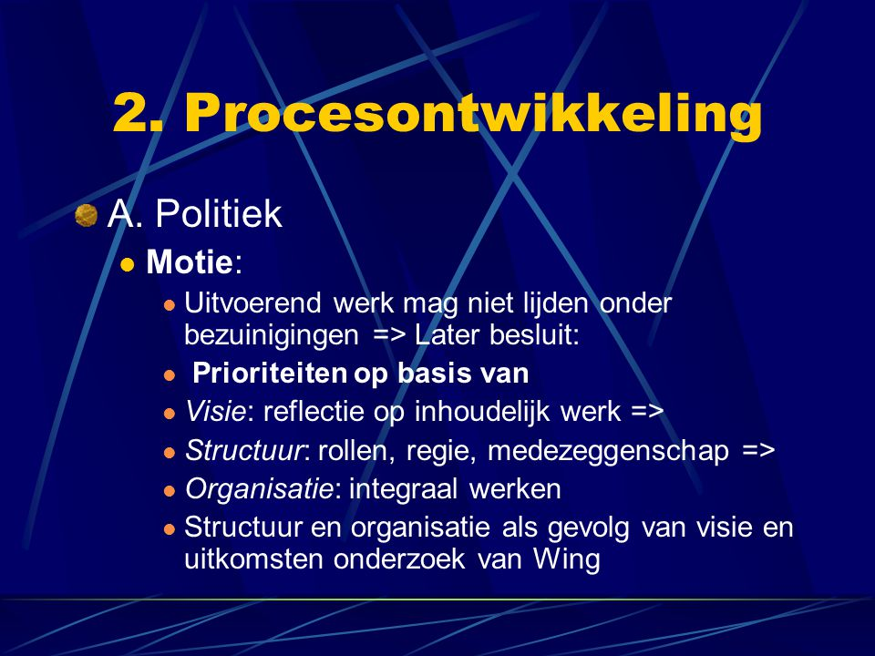 2. Procesontwikkeling A.