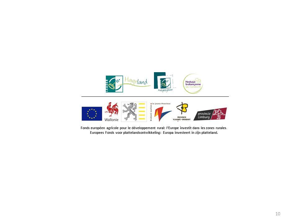 10 Fonds européen agricole pour le développement rural: l'Europe investit dans les zones rurales.