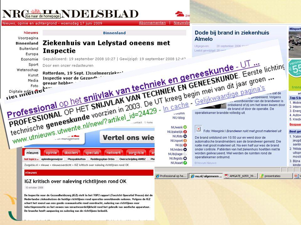 De plannen voor 2009 Leidraad medisch apparatuur (2): verantwoordelijkheden medisch specialist bij aanschaf, in gebruik name en gebruik van medische apparatuur I.s.m.