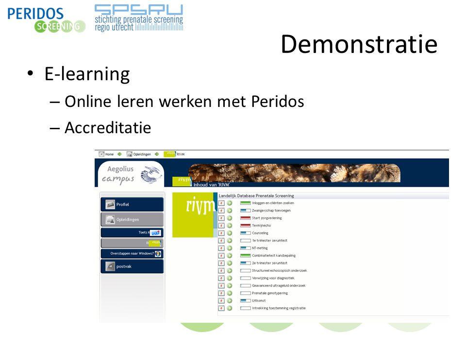 Demonstratie E-learning – Online leren werken met Peridos – Accreditatie