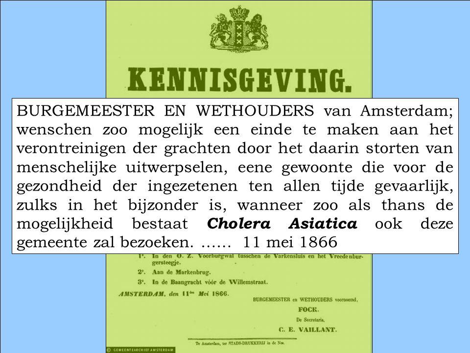 11 oktober 2007 10 BURGEMEESTER EN WETHOUDERS van Amsterdam; wenschen zoo mogelijk een einde te maken aan het verontreinigen der grachten door het daa
