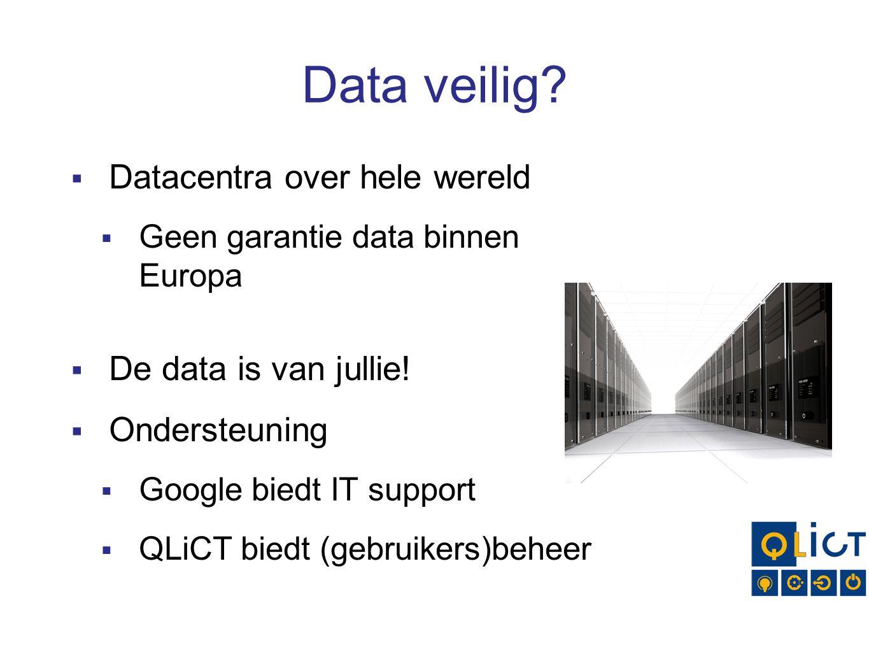 Data veilig.