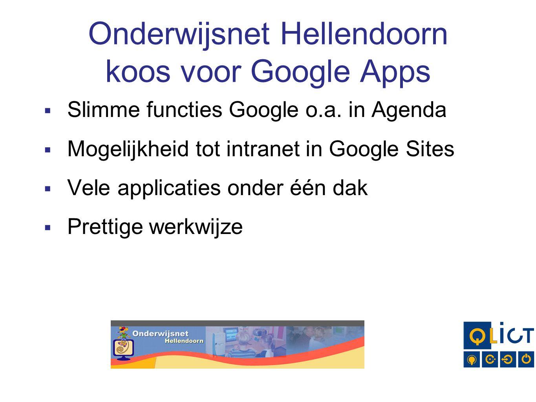Onderwijsnet Hellendoorn koos voor Google Apps  Slimme functies Google o.a.