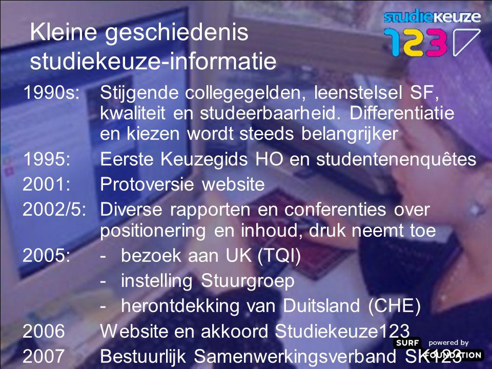 powered by Kleine geschiedenis studiekeuze-informatie 1990s:Stijgende collegegelden, leenstelsel SF, kwaliteit en studeerbaarheid.