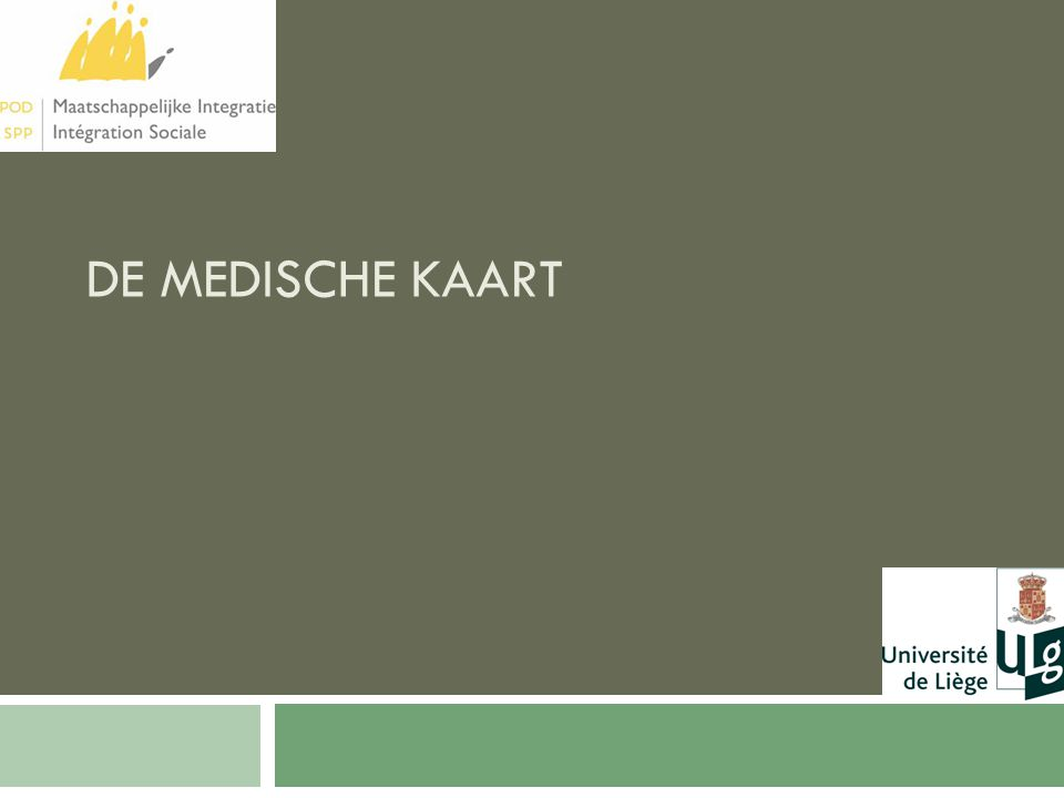 DE MEDISCHE KAART