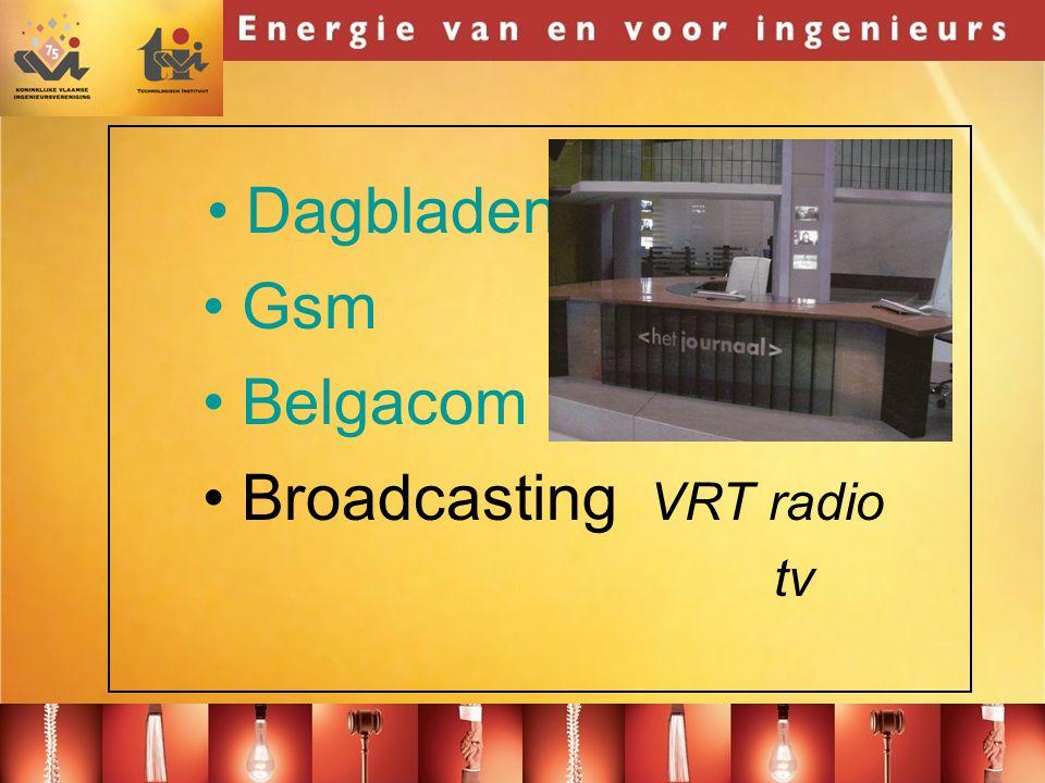 Dagbladen Gsm Belgacom Broadcasting VRT radio tv