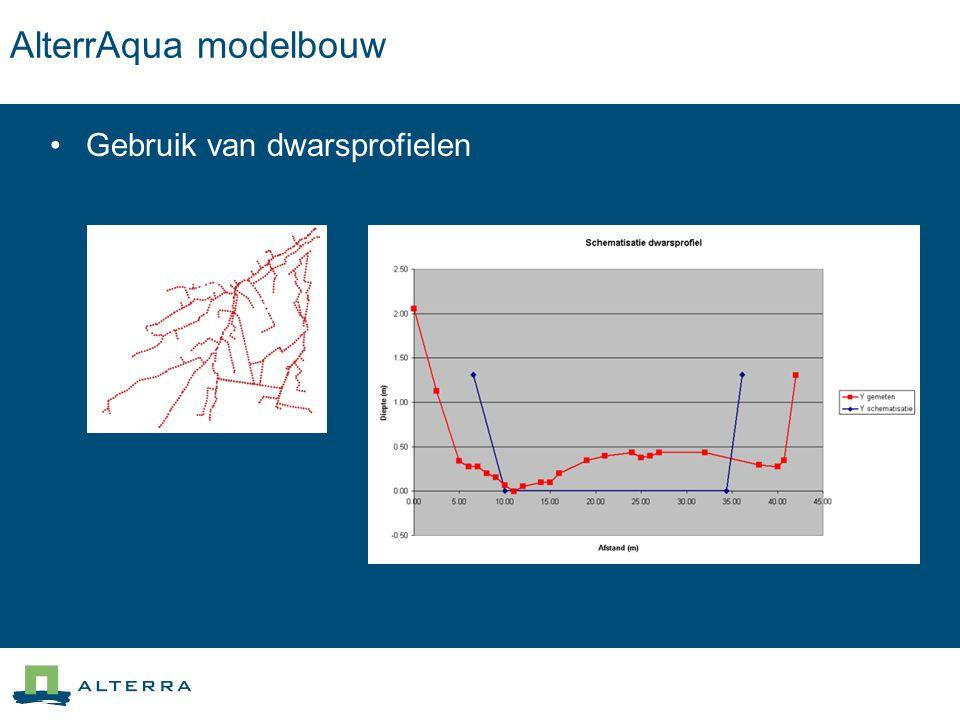 AlterrAqua modelbouw Gebruik van dwarsprofielen