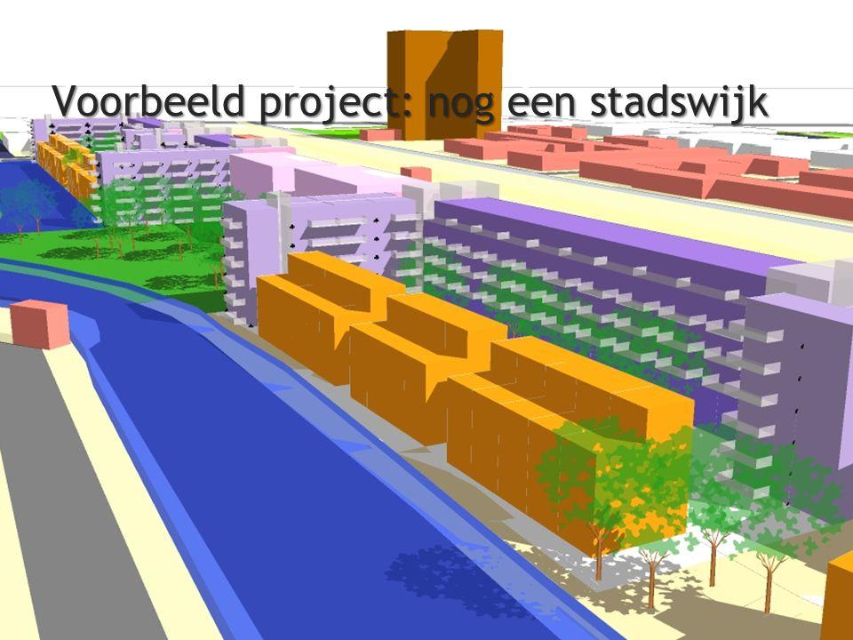 Voorbeeld project: nog een stadswijk