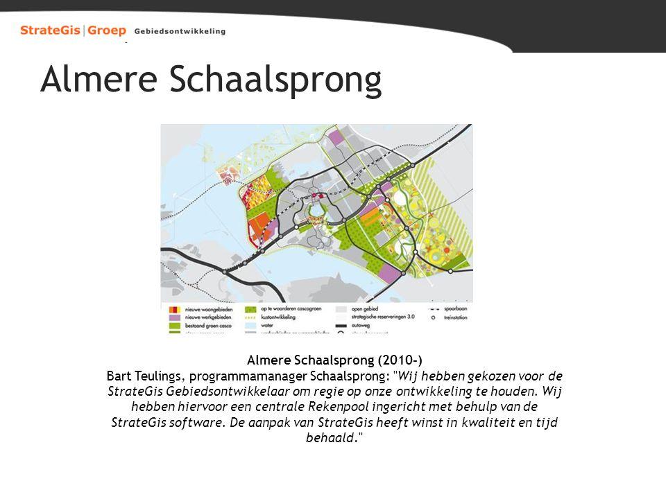 Almere Schaalsprong Almere Schaalsprong (2010-) Bart Teulings, programmamanager Schaalsprong: