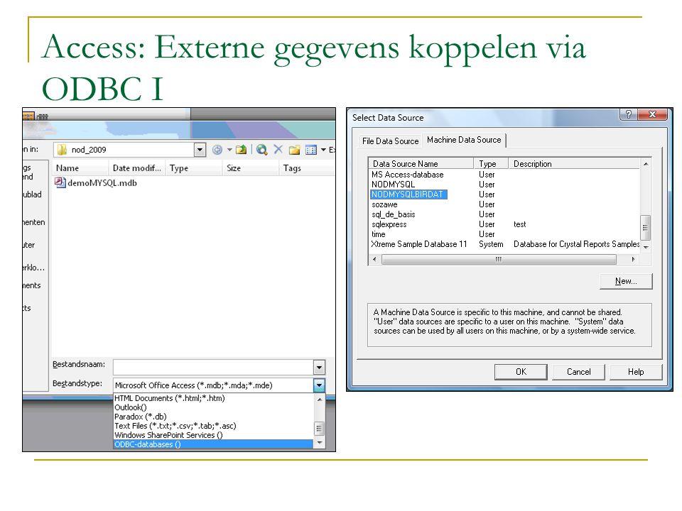 Access: Externe gegevens koppelen via ODBC I