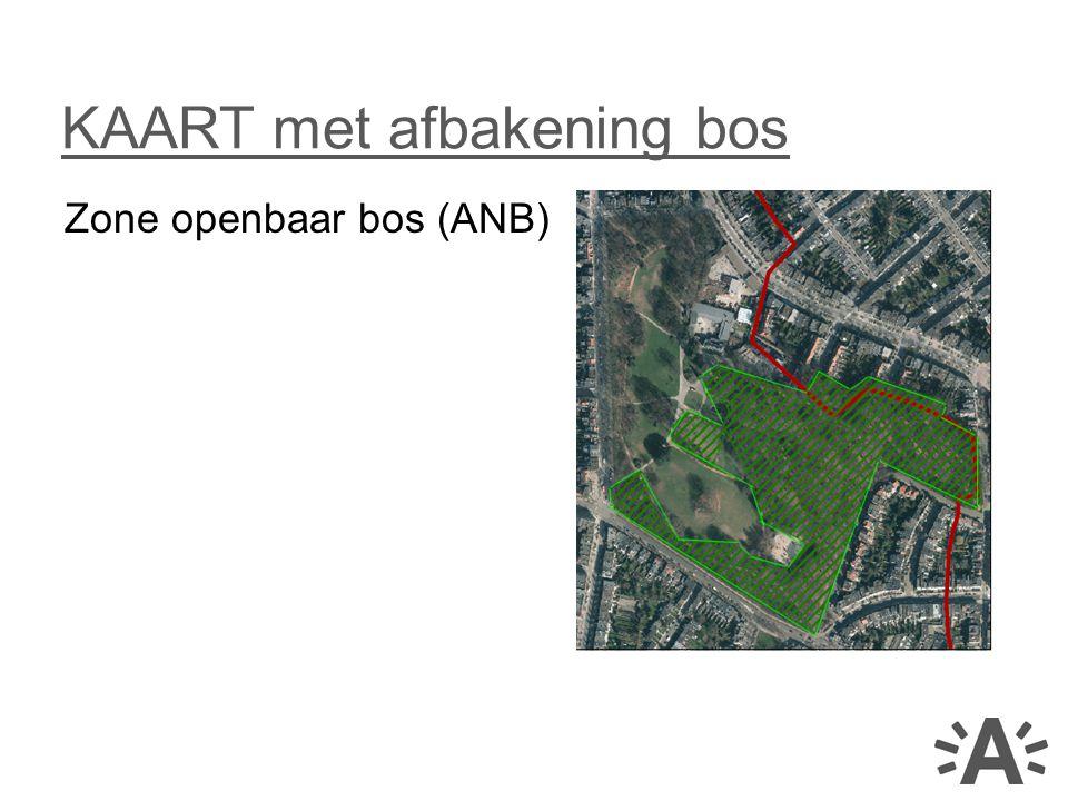 Zone openbaar bos (ANB) KAART met afbakening bos
