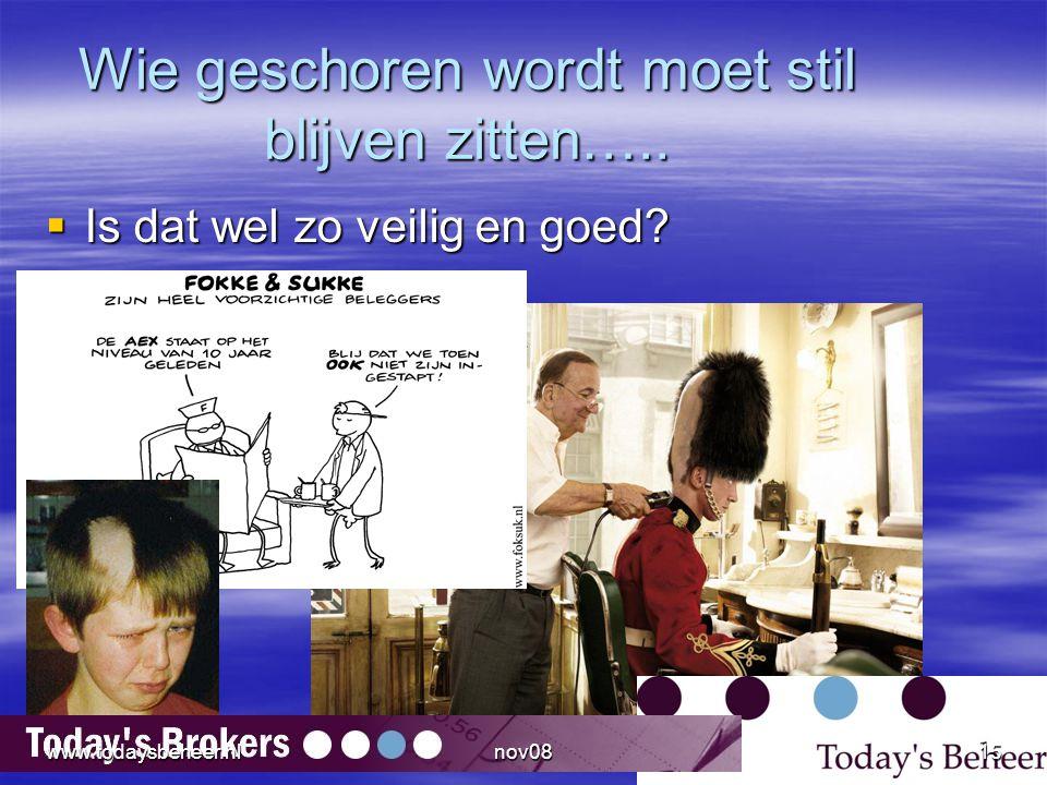Wie geschoren wordt moet stil blijven zitten…..  Is dat wel zo veilig en goed? www.todaysbeheer.nl15nov08