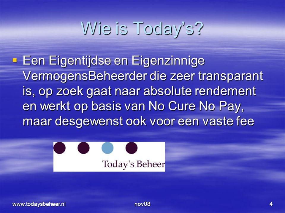 www.todaysbeheer.nlnov0845 Drie soorten volatility  Historisch  Implied  Verwacht  En eigenlijk ook nog een historische implied