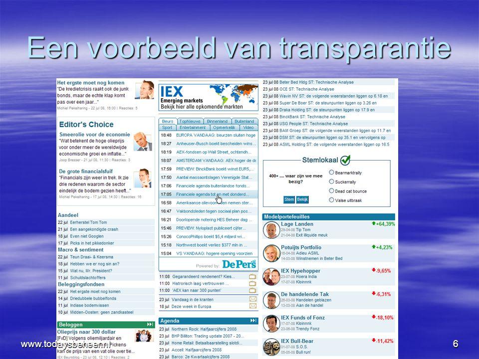 www.todaysbeheer.nlnov0847 Praktijk tip, kijk naar: de VIX Index en andere Vol indices