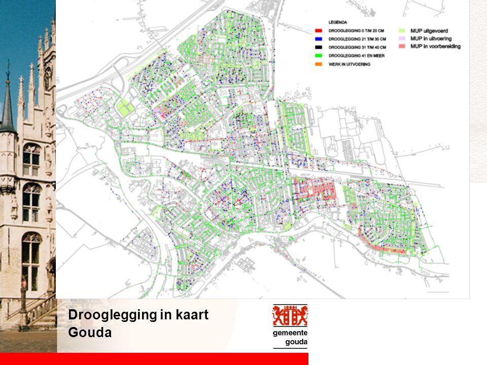 Drooglegging in kaart Gouda