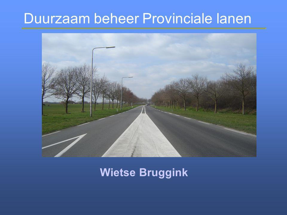 Duurzaam beheer Provinciale lanen Mooie lanen in de Achterhoek Nu en In de toekomst! Resultaat