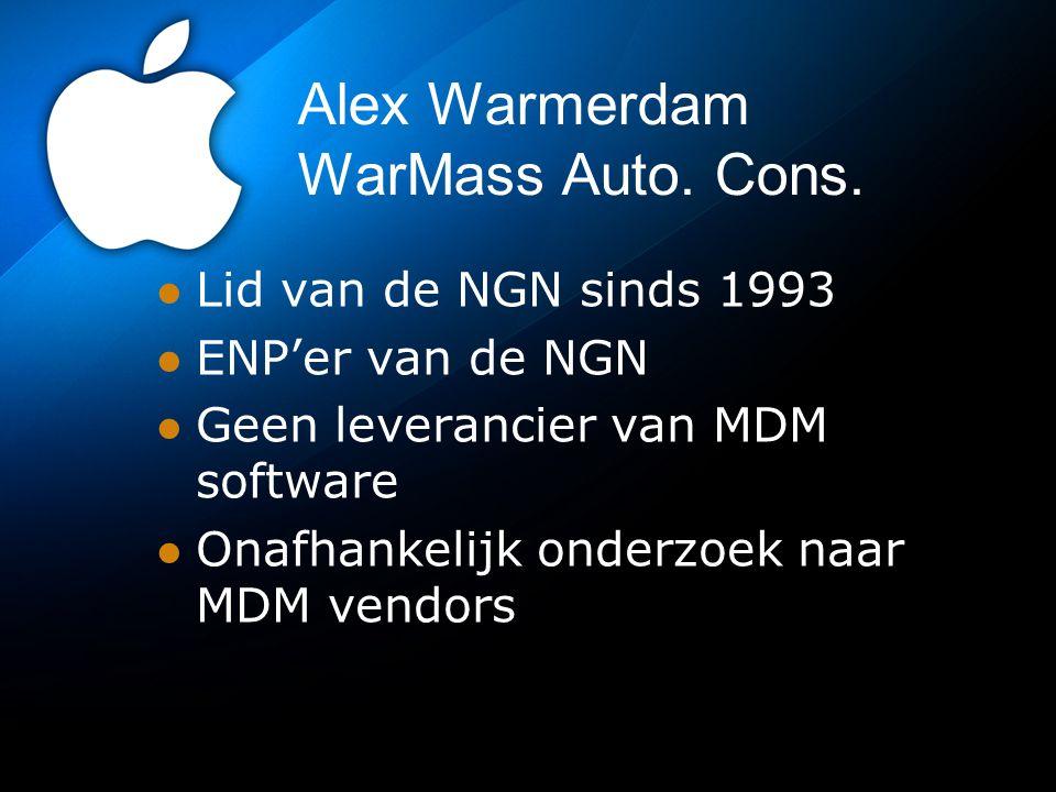 Alex Warmerdam WarMass Auto.Cons.