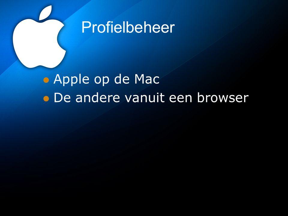 Profielbeheer Apple op de Mac De andere vanuit een browser