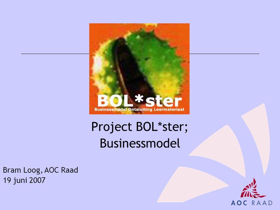 1 Project BOL*ster; Businessmodel Bram Loog, AOC Raad 19 juni 2007