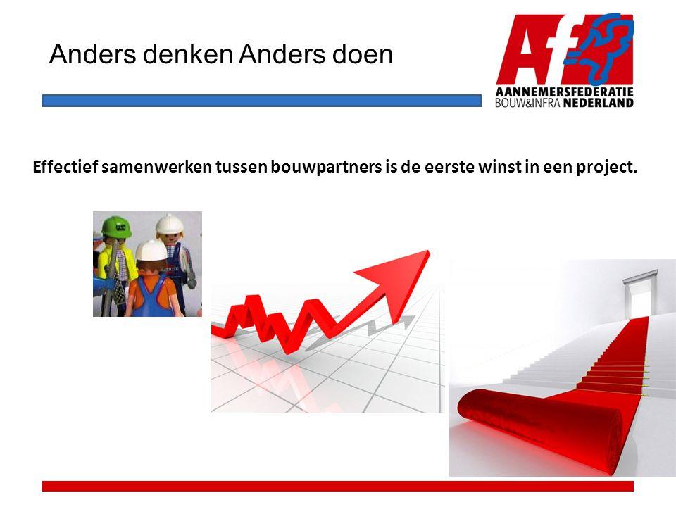 Anders denken Anders doen Effectief samenwerken tussen bouwpartners is de eerste winst in een project.