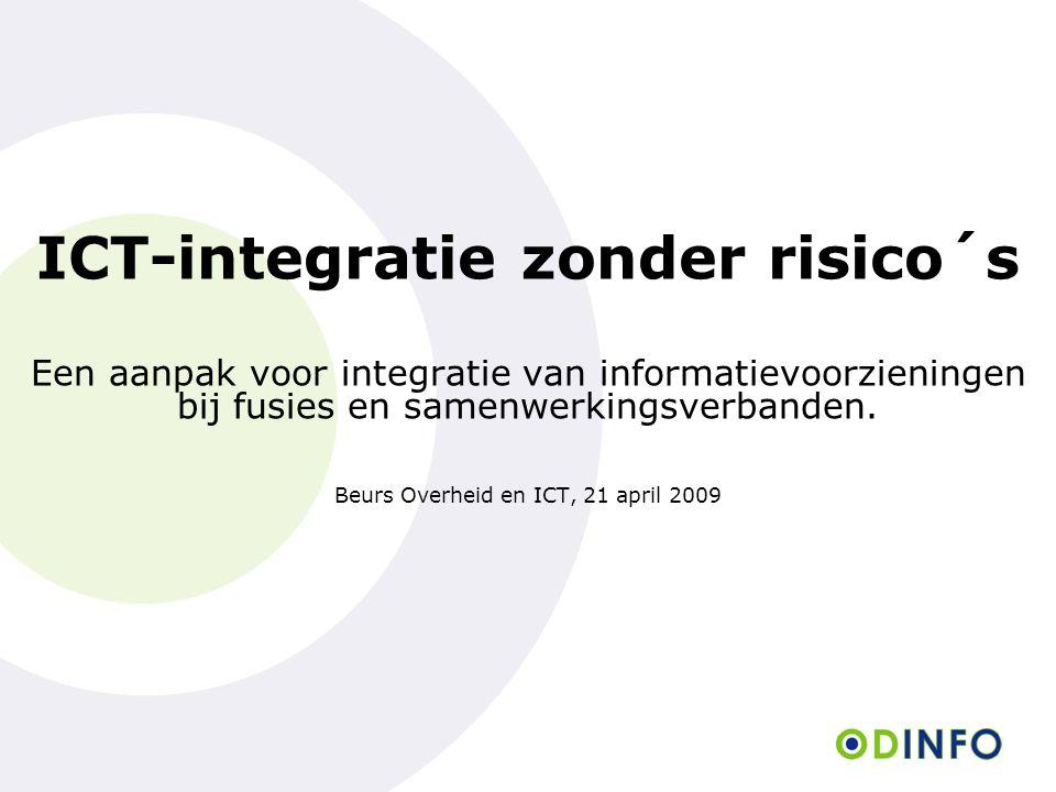 ICT-integratie zonder risico´s Een aanpak voor integratie van informatievoorzieningen bij fusies en samenwerkingsverbanden. Beurs Overheid en ICT, 21