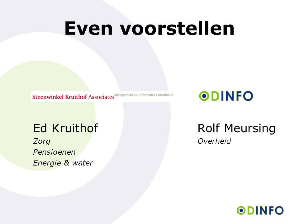 Dienstverlening van Odinfo Het maken van een informatiestrategie Het inrichten van een I&A in het kader van fusie of samenwerking Invoeren NUP Interim I-management Het implementeren van applicaties Het verbeteren van het informatiemanagement Egem-i gecertificeerd www.odinfo.nl T (020) 669 11 76