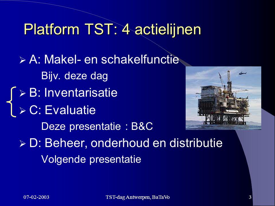 07-02-2003TST-dag Antwerpen, BaTaVo4 B.Inventarisatie & C.