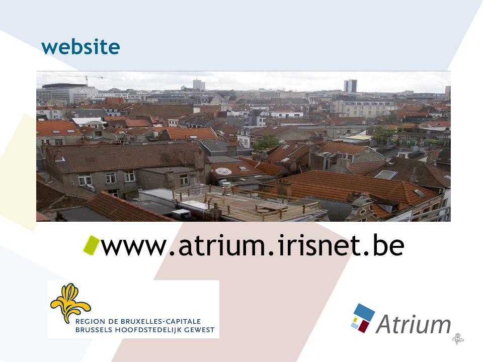 website www.atrium.irisnet.be