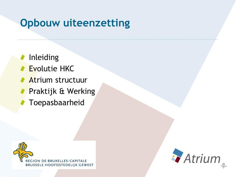 Opbouw uiteenzetting Inleiding Evolutie HKC Atrium structuur Praktijk & Werking Toepasbaarheid
